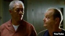 Jack Nicholson și Morgan Freeman în The Bucket List