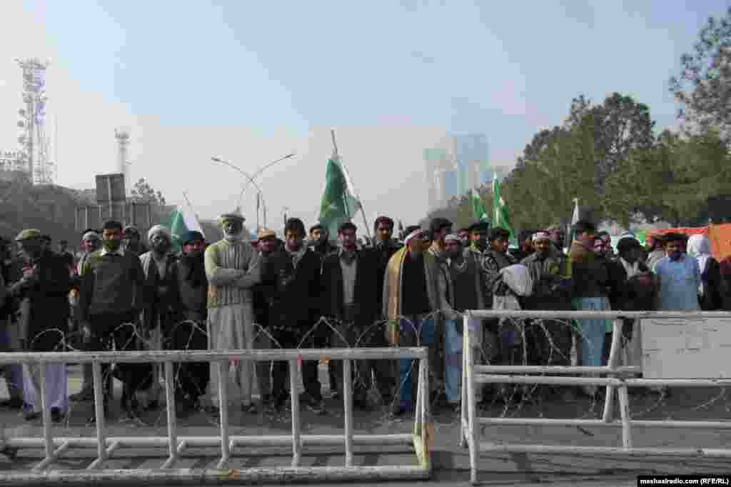 Supporters begin gathering in Islamabad.