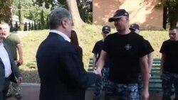 Петр Порошенко встретился с освобожденными моряками (видео)