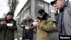 Rusiyada evsizlər.