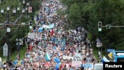 Ռուսաստան - Այսօրվա բողոքի ակցիան Խաբարովսկում