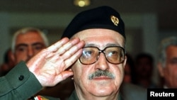 Tariq Aziz, a former key member of Iraqi dictator Saddam Hussein's regime, surrendered to U.S. forces in April, 2003, days after the fall of Baghdad.