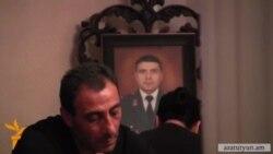 Սպանված գնդապետ Արթուր Վանոյանի հոգեհանգստյան արարողությունը Աբովյանում