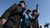 Kazakhstan - Kazakh law enforcement officers detain a protester during a rally held by opposition supporters, after anti-government activist has died of heart problems in a police detention center earlier this week, in Almaty, Kazakhstan March 1, 2020 REU