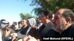 عدد من المشاركين في مظاهرة السماوة الخميس 6 تشرين الثاني