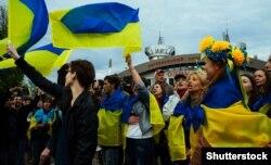 Проукраїнська «хвиля» в Донецьку 28 квітня 2014 року