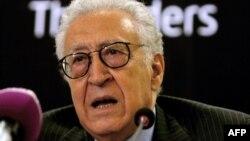 اخضر ابراهیمی، فرستاده ویژه سازمان ملل متحد و اتحادیه عرب.
