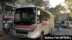 Istanbul, cu autobuzul la miting, 24 iulie 2016