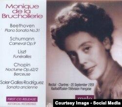 Monique de La Bruchollerie pe un CD Meloclassic 2013