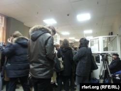 Журналисты на входе в Замоскворецкий суд