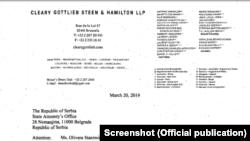 Dokumenti i publikuar nga Akti i Regjistrimit të Agjentëve të Jashtëm