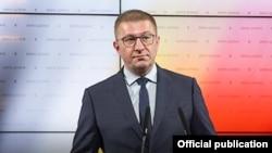 Скопје- прес конференција на претседателот на ВМРО-ДПМНЕ Христијан Мицкоски,02.07.2021
