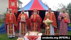 Сьвяточная літургія ў парафіі Язафата Кунцэвіча з нагоды яе 20-годзьдзя