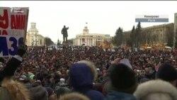 «Вони замовчують від нас правду» – учасниця стихійного мітингу у Кемерові