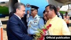 Президент Узбекистана Шавкат Мирзияев в Индии, архивное фото.