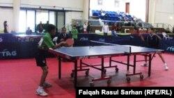 من منافسات بطولة كاس العرب 13 لكرة الطاولة في عمّان