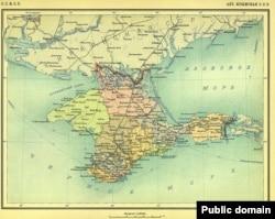 Карта Крымской АССР