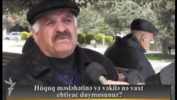 Hüquq məsləhətinə və vəkilə nə vaxt ehtiyac duymusunuz?