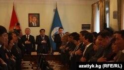 Открытие первого заседания нового состава горкенеша, Бишкек, 27 декабря 2012 года.