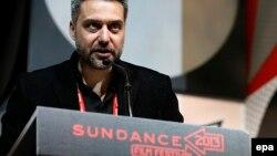 Srđan Golubović na dodeli nagrade Sandens film festivala za njegov film Krugovi, januar 2013.