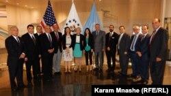 وفد اللجنة المشرقية العالمية مع مندوبات سكرتارية الأمم المتحدة