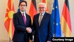Средба на претседателот Стево Пендаровски со претседателот на Германија, Франк Валтер Штајнмајер во Берлин