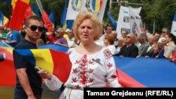 Marș unionist în centrul Chișinăului