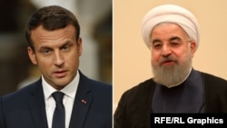 French President Emmanuel Macron (left) and Iranian President Hassan Rohani.