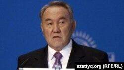 Қазақстан президенті Нұрсұлтан Назарбаев. Астана, 25 қараша 2011 жыл.