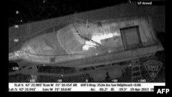 Кадр зь відэа, зробленага з дапамогай прылады, якая фіксуе цеплавое выпраменьваньне