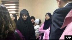 Женщины из Таджикистана в иракском суде.