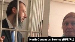 Ингушский оппозиционер Магомед Хазбиев на суде