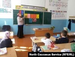 Урок в дагестанской школе, архивное фото