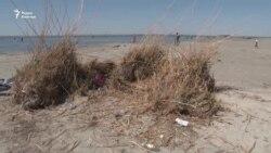 Туристы просят спасти озеро Камыстыбас от мусора