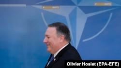 Новиот американски државен секретар Мајк Помпео во Брисел