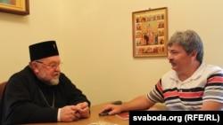 Япіскап Арцемі і Міхась Скобла