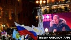 Выступление Владимира Путина на концерте в честь четвертой годовщины аннексии Крыма. Москва, 18 марта 2018 года.