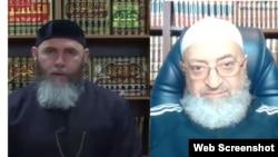 Муфтий Чечни Салах Межиев и британский имам, шейх Абдуррахман Димашкыйя