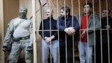 Українські полонені моряки у суді, Москва 15 січня 2019 року