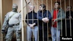 Українські моряки в російському суді. Москва, 15 січня 2019 року