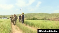 Armenia - Representatives of the OSCE escorted by Armenian army officers monitor ceasefire on the Armenian-Azerbaijani border, 23 June, 2018.