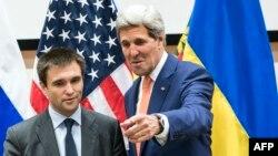 Голова МЗС України Павло Клімкін та держсекретар США Джон Керрі