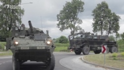 U.S. Soldiers Arrive In Latvia As 'Tactical March' Moves On