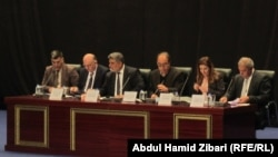"""جانب من مؤتمر """"الابادة الجماعية والتطهير العرقي ومستقبل الايزديين والمسيحيين في العراق"""" في أربيل"""