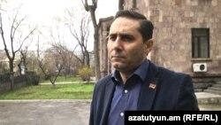 Armenia -- Arman Abovian of the Prosperous Armenia Party speaks to RFE/RL, March 21, 2020