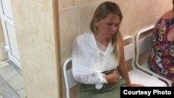 Анжелика Мастяева в травмпункте