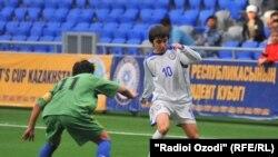 Во время матча между сборными Казахстана и Таджикистана. Иллюстративное фото.