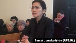 Депутат парламента Кыргызстана Аида Салянова, бывший генеральный прокурор и бывший министр юстиции. Бишкек, 7 февраля 2018 года.