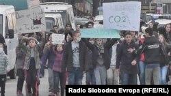 Протест поради загадениот воздух во Тетово.