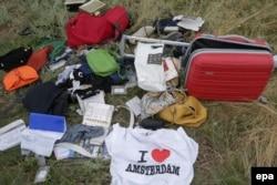 Остатки личных вещей и багажа погибших пассажиров